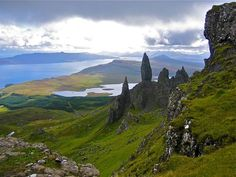 On top of the Isle of Skye, Old Man Storr sits overlooking the miles of beautiful Scottish scenery. Old Man Storr is an interesting rock formation created by landslides. Make your homebase in Portree and spend some time exploring the island.  _____________________________  #scotland #portree #isleofskye #skye #oldmanstorr #rocks #views #natureisbeautiful #nature #hiking #europe #eurotrip #eurotrip2016 #explore #travel #travelgram