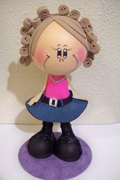 Craft Foam doll made to look like a friend :)