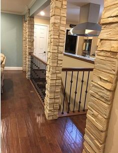 Best View From Living Area To Open Staircase And Kitchen Dining 400 x 300