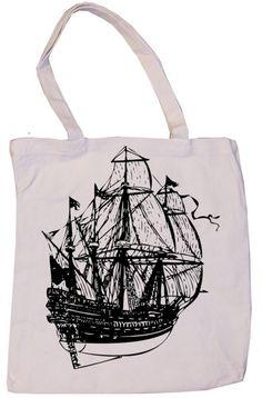 Retro pirate ship