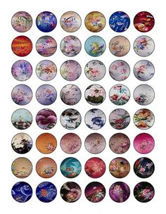 You will receive 48 1 inch pre-cut Circle Digital Images     they are professionally printed on high quality photo paper     they look great as necklace pendants, magnets and keychains. Great for all your 1 inch round Pendant or bottle cap project needs     www.artfire.com/ext/shop/studio/houseofstuff