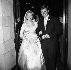 1958 Wedding Edward Kennedy & Bride Joan
