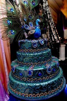 Amazing Bird Wedding Cakes Hellooooo is there a freekin quot; button to hit! My dream cake. Hellooooo is there a freekin quot; button to hit! My dream cake. Crazy Cakes, Fancy Cakes, Cute Cakes, Pretty Cakes, Yummy Cakes, Pink Cakes, Peacock Cake, Peacock Wedding Cake, Indian Wedding Cakes