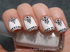 Black and White nail art by Waki Laki.