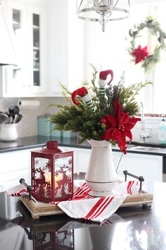 Christmas Table Centerpieces, Indoor Christmas Decorations, Christmas Table Settings, Christmas Themes, Christmas Holidays, Christmas Wreaths, Christmas Quotes, White Christmas, Christmas Events