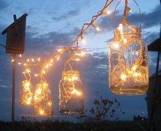 decor, decoração, decorations, details, jars, mason, lights, wedding
