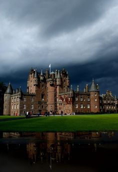 Glamis Castle in Angus, Scotland is the home of the Earl and Countess of Strathmore and Kinghorne, and is open to the public.  Where once stood a medieval royal hunting lodge, the castle was built in late medieval times.  There are several myths and legends associated with the castle of monsters, vampires, ghosts, and the true story of a family walled up alive.