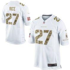 c04c21770 Nike Ray Rice Baltimore Ravens Salute to Service Game Jersey - White   SalutetoService Football Jerseys
