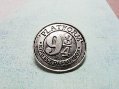Train Platform Brooch, silver pin inspired by Harry Potter 9-3/4