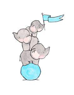 tattoo elephant cute