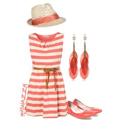 """""""Coral"""" by getsnazzy on Polyvore"""