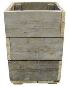 Bloembak / plantenbak oud steigerhout 40x40x65cm (voorraad)