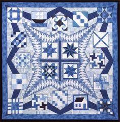 "Quilt: ""Friendship is a Gift"" by Margreta Silverstone, 90"" x 90"""