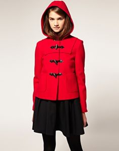 starting to get excited for winter...short wool duffle coat on ASOS