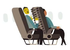 The Recline and Fall of Western Civilization  Tilting your seat back on an airplane is pure evil. But so is installing seats that recline in the first place.  By Dan Kois|Posted Tuesday, Feb. 19, 2013, at 6:02 AM......Illustration by Alex Eben Meyer.
