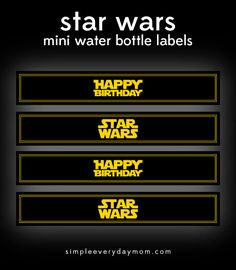 Download these Star Wars printables to throw a festive birthday party in no time!