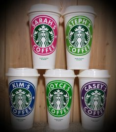 Custom Label To Fit Starbucks Cup  *cup INCLUDED!* - Kelly Belly Boo-tique  - 4