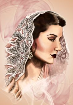 Princess of Hyderabad India Niloufer Pink Pastel Colour Digital Painting Vintage Beauty Saree Pearls Indian Illustration, Vintage Beauty, Pastel Colors, Indian Fashion, Hyderabad, Princess, Saree, Paintings, Colour