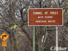 """Tunnel of Trees"" scenic drive on M-119 between Harbor Springs and Cross Village, MI"