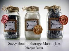 Margot Potter Savvy Studio Storage Mason Jar Crafts for BuzzFeed