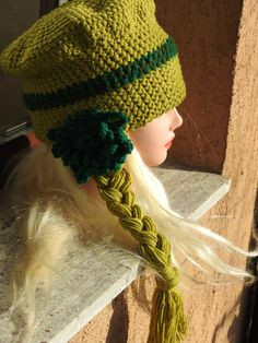 Winter Hats Crochet Flower Beanie Accesories Winter by JadAngel