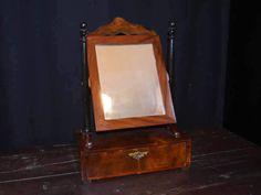 Biedermeier Spiegel Psyche Schminkspiegel  von Pepita Antik Vintage Shop auf DaWanda.com
