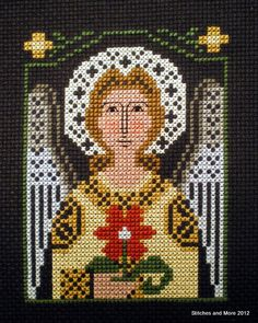 Stitches and More: Prairie Schooler Angel, this is available as a needlepoint canvas
