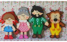 Lata História Chapeuzinho Vermelho no Elo7 | Lu Artes Pedagógicas (CF07F9) Paper Dolls Book, Felt Quiet Books, Disney Characters, Fictional Characters, Minnie Mouse, Arts And Crafts, 1, Bear, Ladybug Crafts