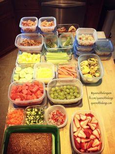 Food prep for the week.