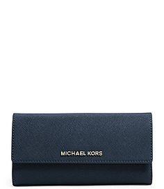 3f9e5db18e9b MICHAEL Michael Kors Jet Set Travel Checkbook Wallet #Dillards Michael Kors  Jet Set, Dillards