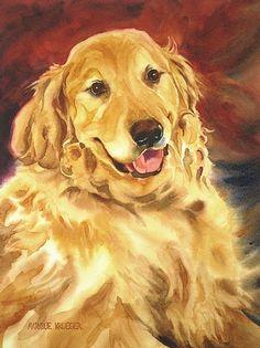 Beau by MarySue Krueger Watercolor ~ 16 x 12