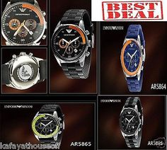 AR5864-66 Original Men Armani Watch Dial Luminous Calendar Waterproof Quartz