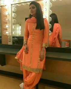 Discover recipes, home ideas, style inspiration and other ideas to try. Indian Long Dress, Party Wear Indian Dresses, Dress Indian Style, Kurta Designs, Patiala Suit Designs, Punjabi Salwar Suits, Patiala Salwar, Anarkali, Sharara Suit