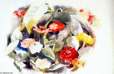 Zinnias, 1921 by Charles Demuth on Curiator, the world's biggest collaborative art collection. Fine Art Prints, Framed Prints, Canvas Prints, Charles Demuth, Still Life Flowers, Digital Museum, Philadelphia Museum Of Art, Collaborative Art, Reproduction