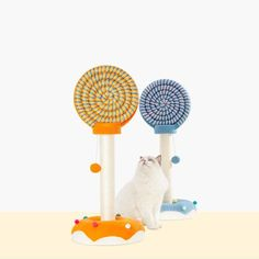 Candy World Series Lollipop Shaped Cat Tower Cat Trees Cheap, Cat Climbing Tree, Cat Towers, Sisal Rope, Fat Cats, Hanging Baskets, Cool Cats, Warm And Cozy, Fur Babies