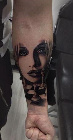 Chess tattoo by Nitu Flavius