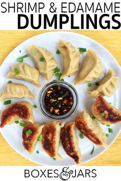 Edamame & Shrimp Dumplings | Click through for the full recipe!