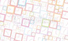 Uhrzeit - vierckig - Pastellfarben