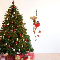 "Love this ""Santa"" reindeer wall decal #Wayfair.com"