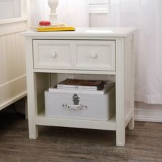 Casey 1 Drawer Nightstand - White traditional nightstands and bedside tables