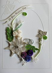on your wedding day - quilled card