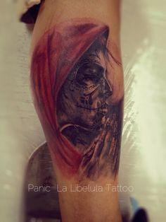 Catrina por Panic one   La Libélula Tattoo