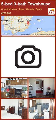 Townhouse for Sale in Aspe, Alicante, Spain with 5 bedrooms, 3 bathrooms - A Spanish Life Murcia, Malaga Spain, Alicante Spain, Sevilla Spain, Cadiz Spain, Aspen, Benalmadena, Single Bedroom, Zaragoza