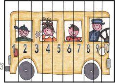 Number puzzle Kindergarten Math Activities, Preschool Worksheets, Teaching Math, Preschool Activities, Number Puzzles, Maths Puzzles, Math Numbers, Math For Kids, Fun Activities For Kids