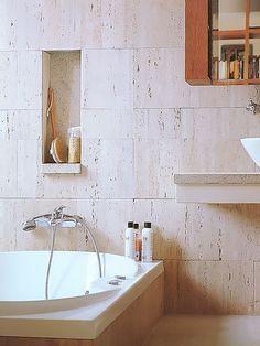Banheiro em marmore travertino
