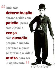 Frases para Facebook - Lute com determinação - Frases com imagens e recados para Facebook