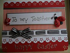 hand made Easter card