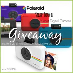 Enter to WIN a Polaroid Snap Touch Instant Digital Camera via... IFTTT reddit giveaways freebies contests