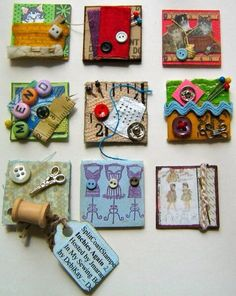 Sewing Themed Inchies
