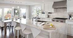 Atkinson Residence • Cristallo Quartzite - Transitional - Kitchen - calgary - by ICON Stone & Tile